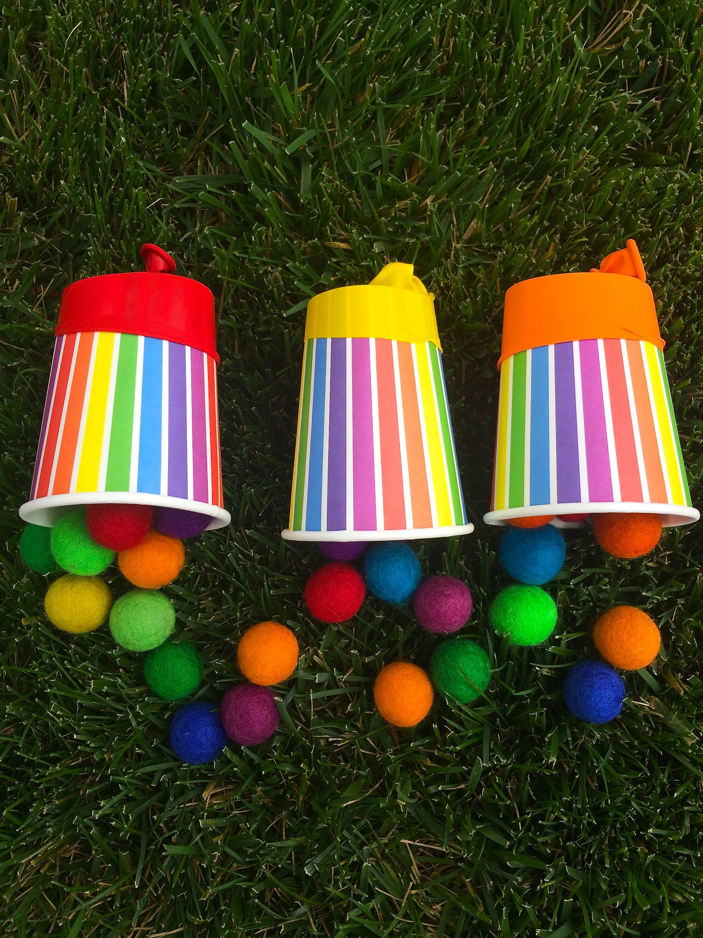 Pom Pom Poppers Simple Kids Craft Or Kids Activity For