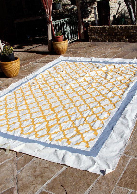 Custom Handpainted Canvas Floor Cloths By Randrdesignworks