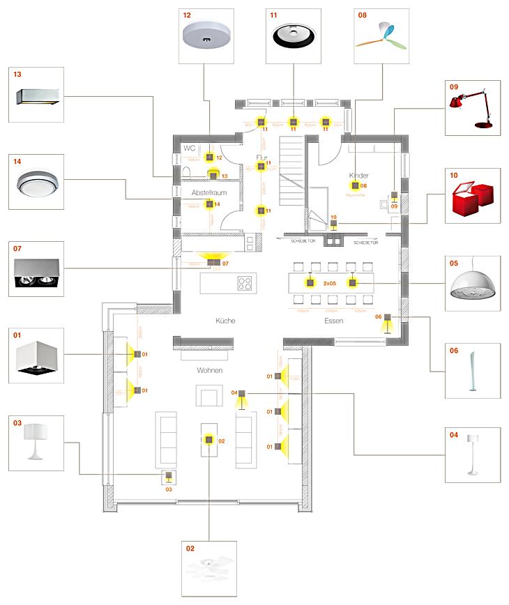 Beispiel Einer Lichtplanung Fur Gebaude Architektur Portfolio Layout Lichtplanung Wohnzimmer Licht