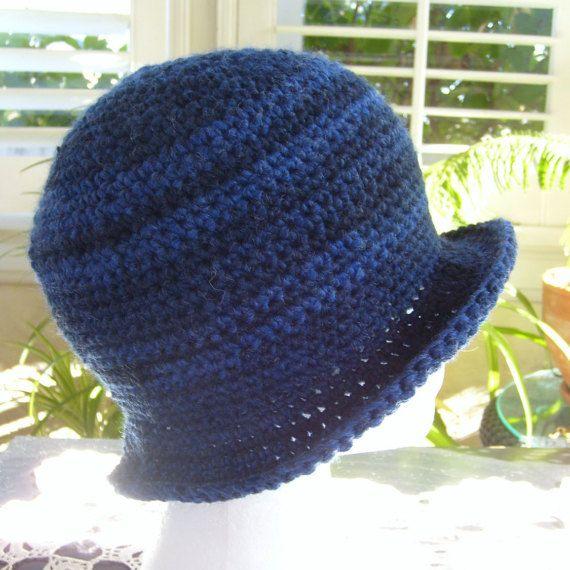fbe422ab7b9 Indigo blue hat winter hat crochet hat wool by stitchwhimsymarket ...