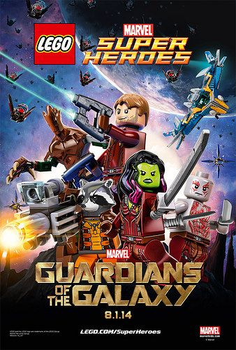 Marvel Guardians Of The Galaxy Movie Poster In Lego Form Lego Poster Lego Marvel Lego Marvel Super Heroes
