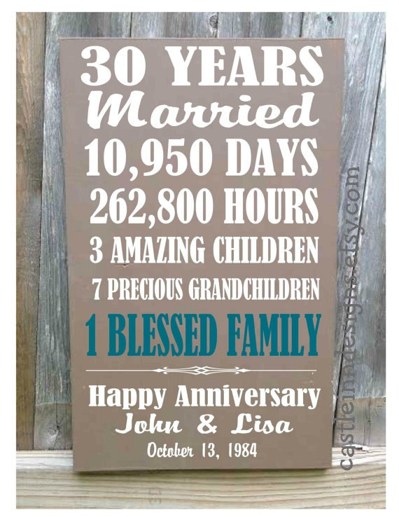 Wedding Anniversary Gifts 30 Years: Best 25+ 35th Wedding Anniversary Gift Ideas On Pinterest