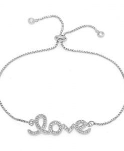 91a7fc84ee9c8 Bracelet Swarovski love   BIJOUX FANTAISIE PAS CHER   Pinterest ...