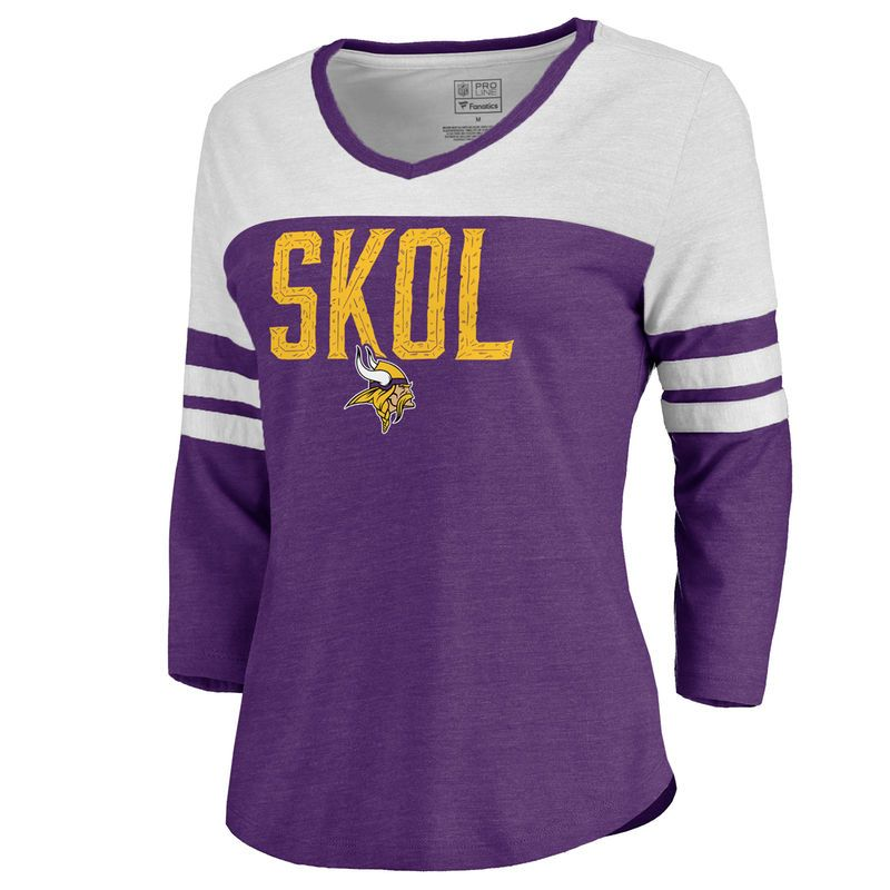 Fanatics Minnesota Vikings NFL Women/'s Skol T-Shirt New Purple