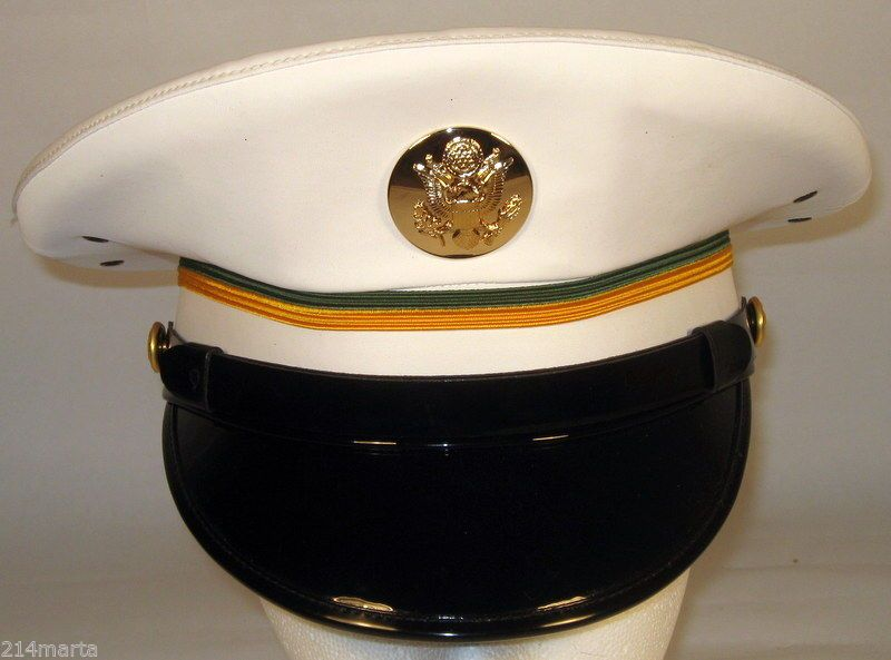 59f3a8537ea US Army Military Police MP Enlisted Service Dress Whites Hat Cap 6 3 4 or 54