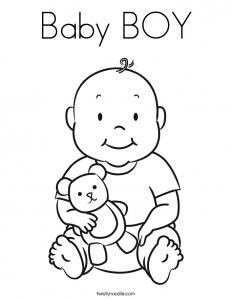 Baby Boy Coloring Page Free Coloring Pages For Kids Baby Baby