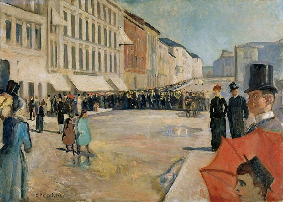 Music On Karl Johan Edvard Munch Kunsthaus Zurich Edvard Munch Street Painting Art