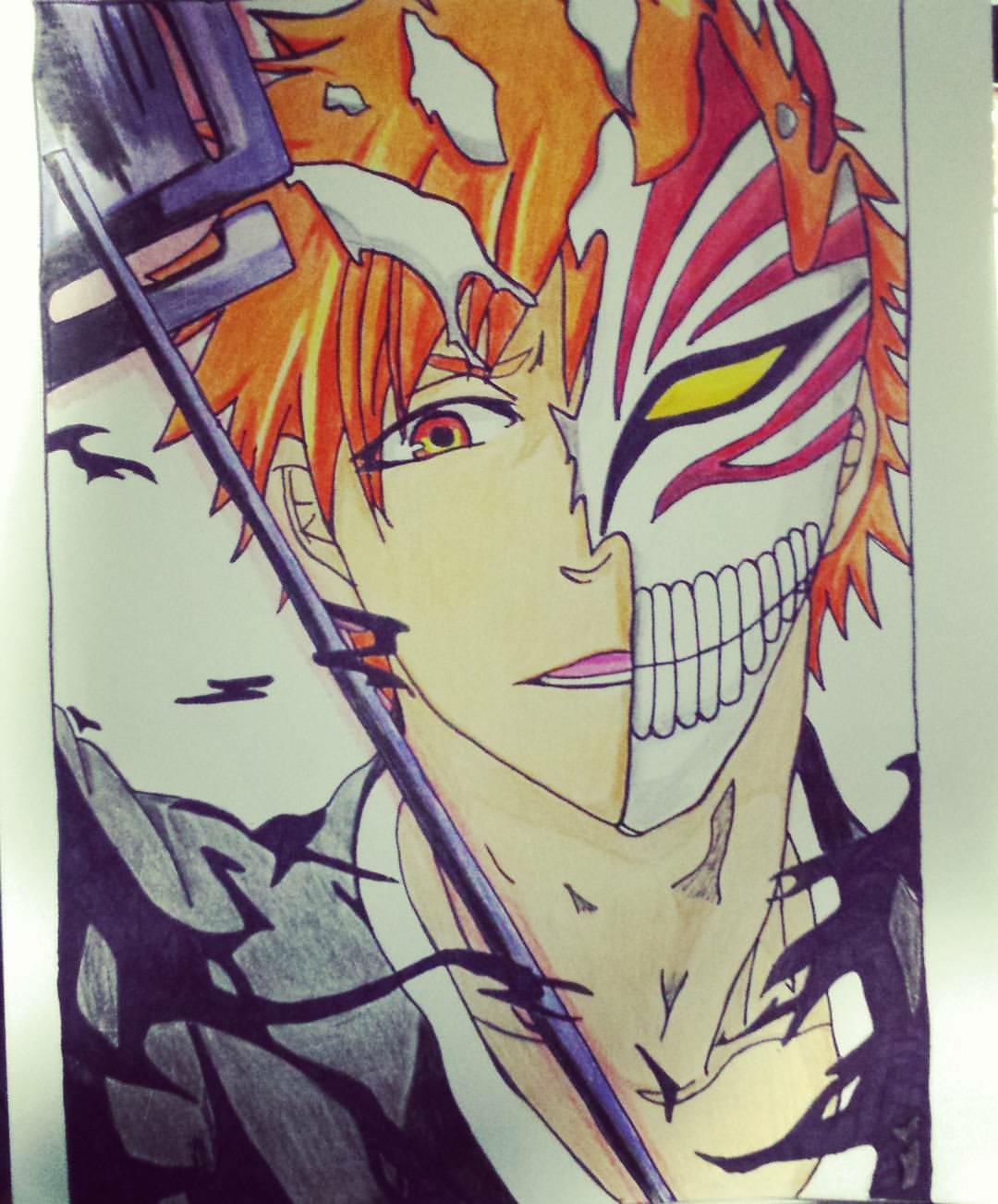 My drawing of Hollow Ichigo