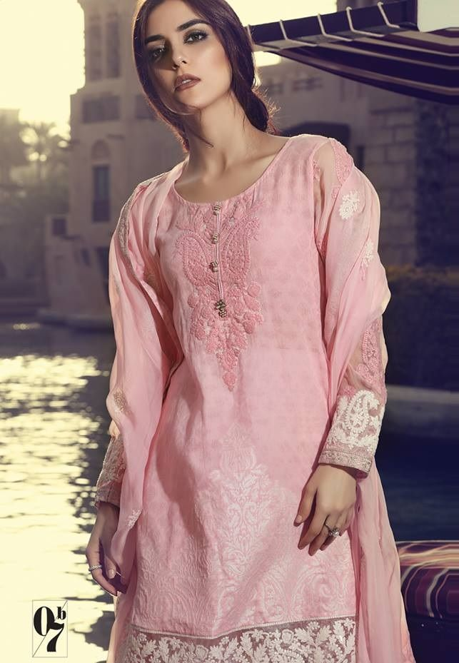 ee37da7c58 Baby pink jacquard lawn embroidered suit by Maria B | Maria.B Lawn ...