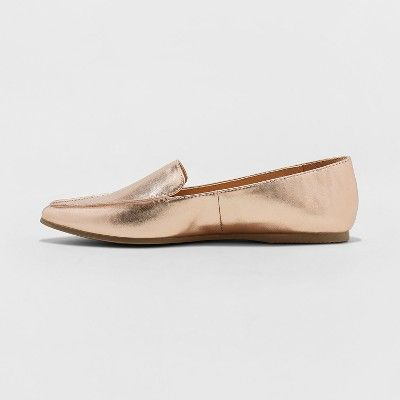 3b47b3a29da Women s Micah Wide Width Pointy Toe Loafers - A New Day Rose Gold 5W ...