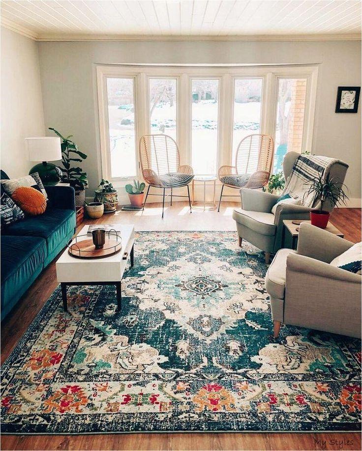 Boho Inspired Rug For Living Room Rugs In Living Room Eclectic Living Room Bohemian Style Living Room