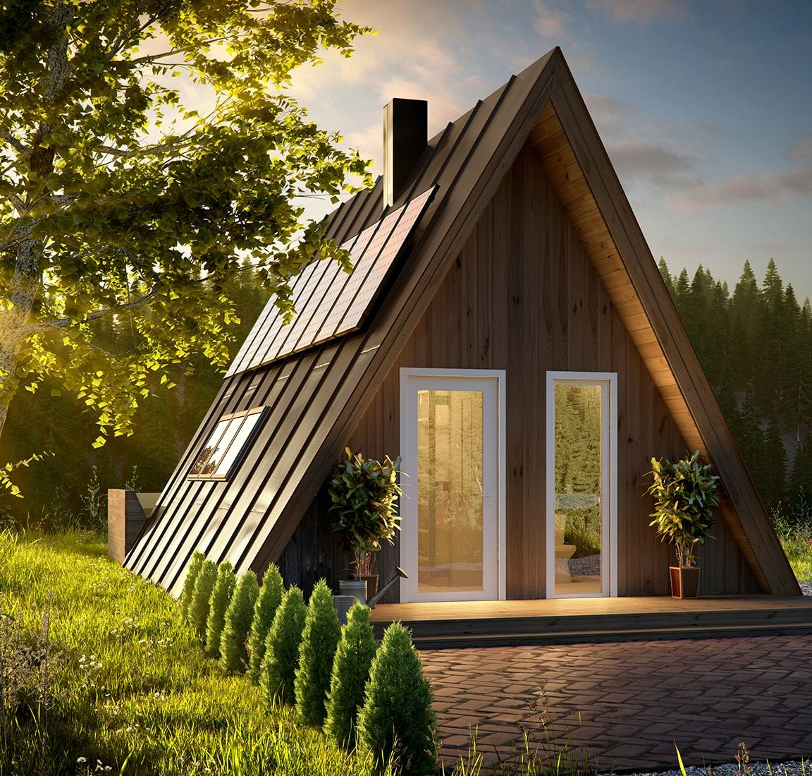 Affordable housing with a-frame kit homes | A-Framing it | Pinterest ...
