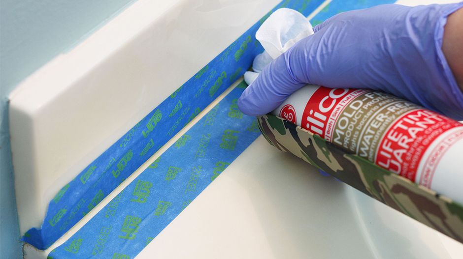 To Smooth A Caulk Bead As You Apply It Cover Your Finger In A Wet Wipe And Hold It Behind The Tube Tip Caulk Caulking How To Remove Caulking