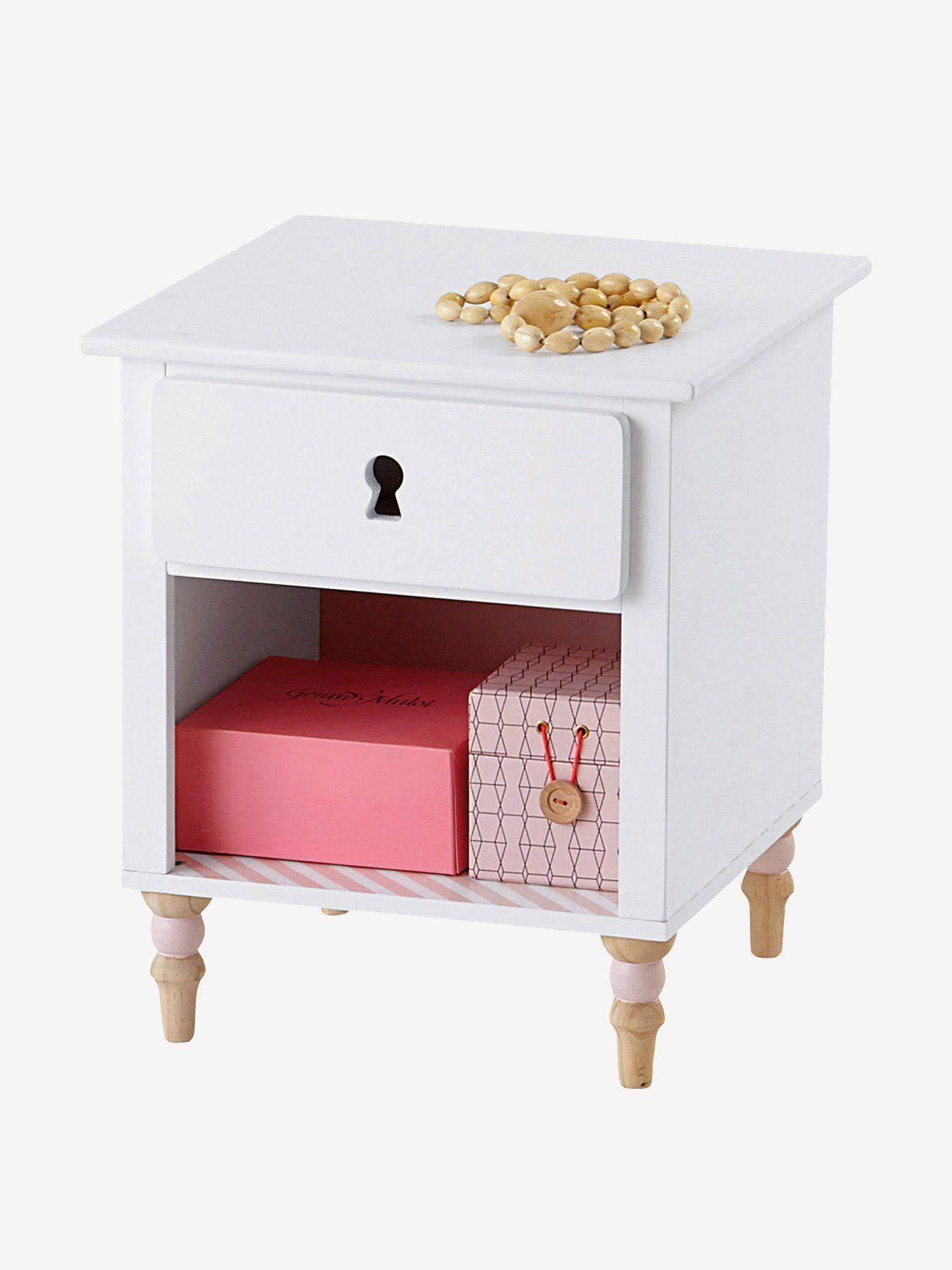 """Nachttisch """"Romantique"""" für Mädchen von Vertbaudet in weiß"""