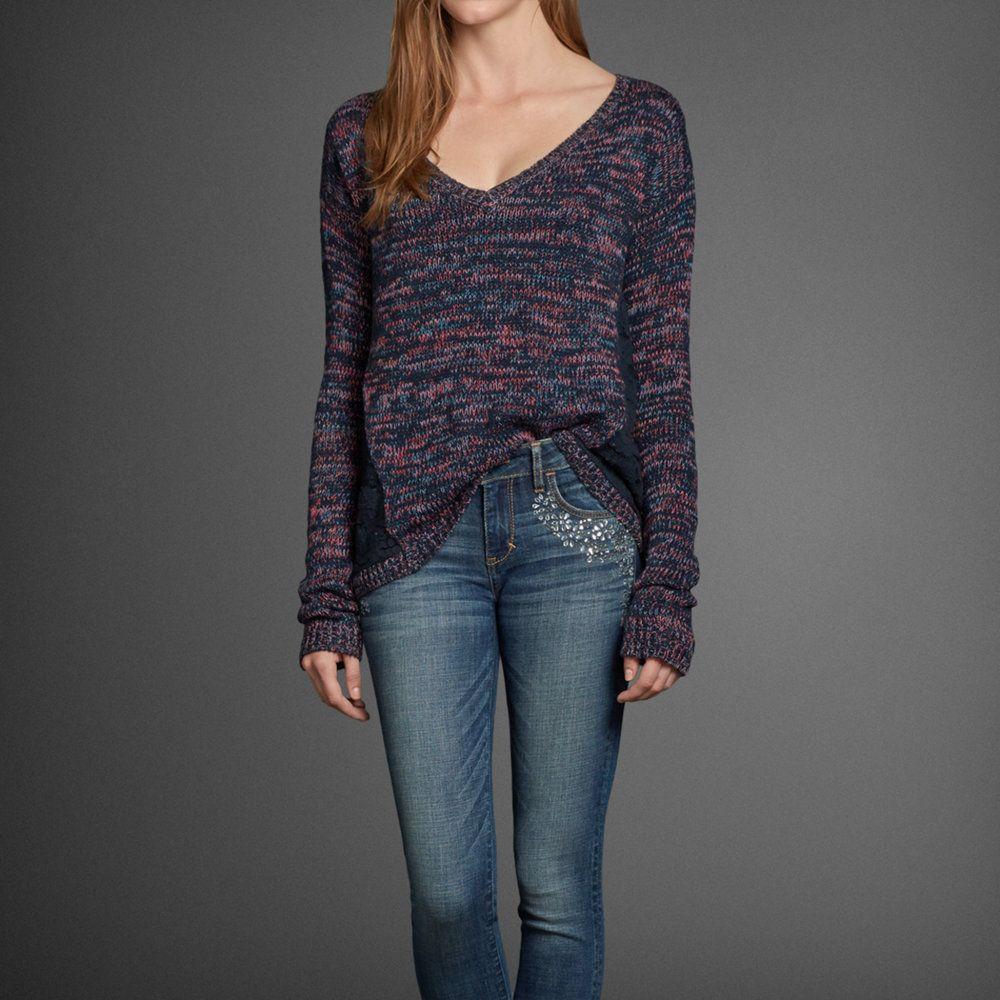 Womens Valarie Lace Back Sweater   Womens Clearance   Abercrombie.com