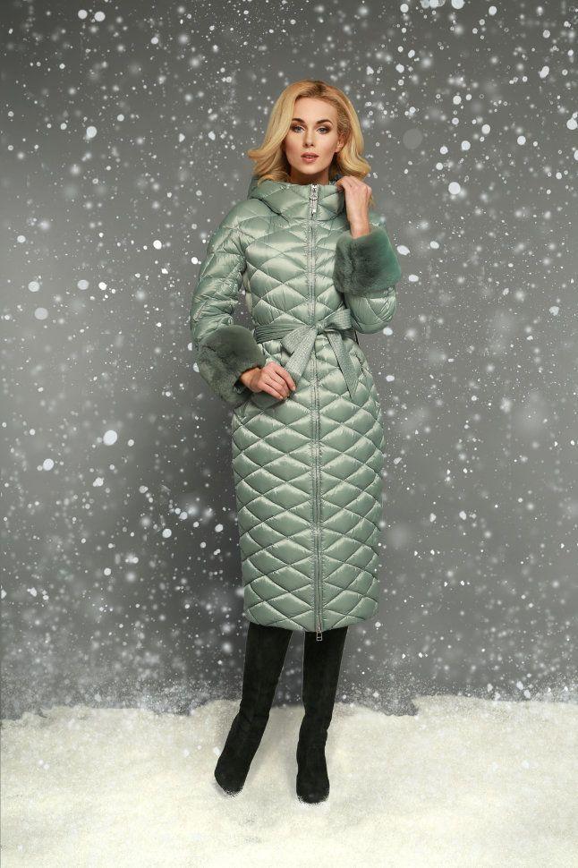 916121d88f6 Пуховик женский Naumi WF15 155 ментол купить недорого в интернет магазине  Узоры Пальто
