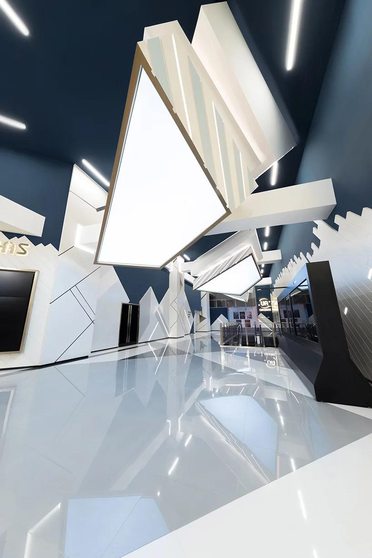 oft interiors'UA cinemas design celebrates deconstructivism inshanghai