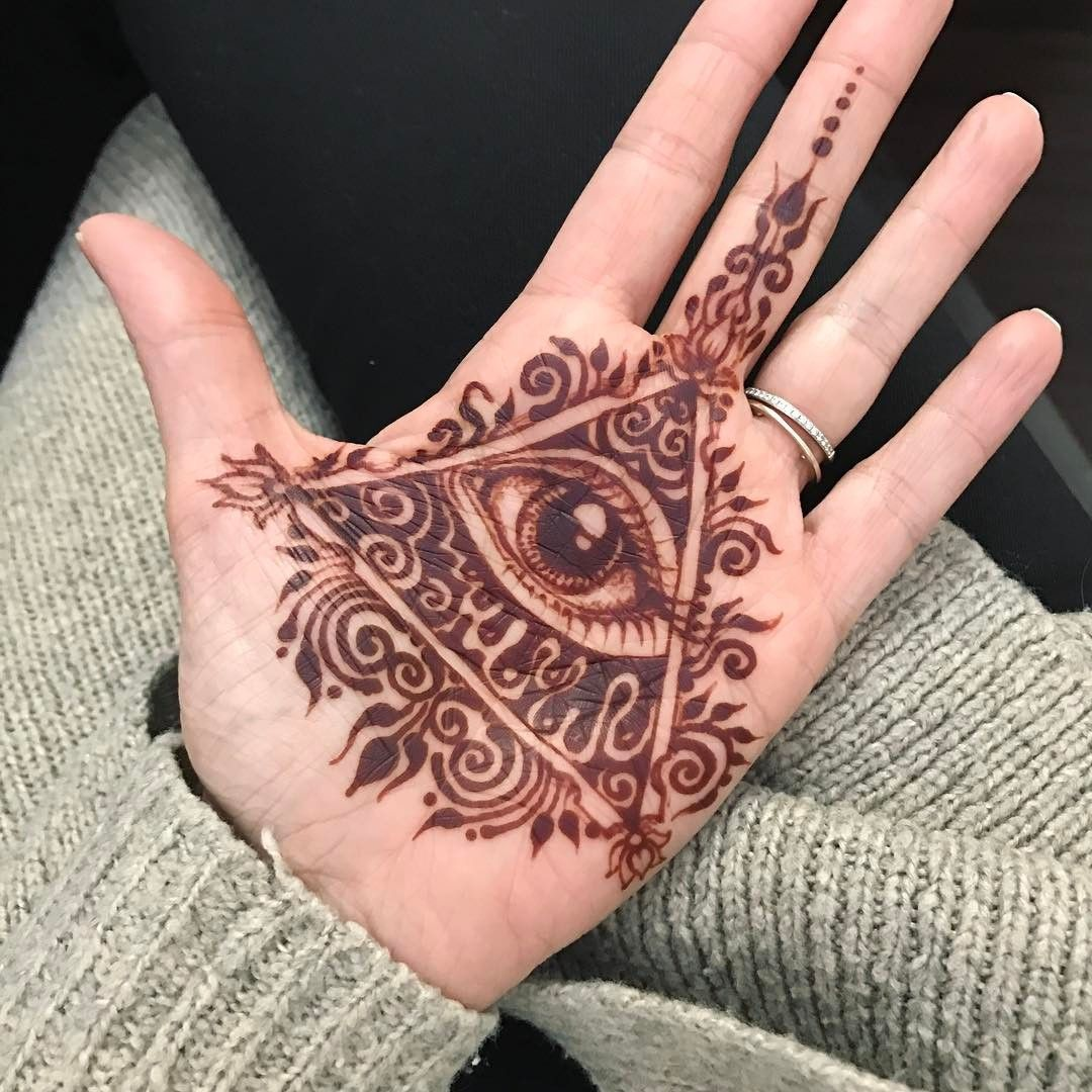 24 hr stain 👁 #henna #hennart #hennadesign #hennaeye # ...