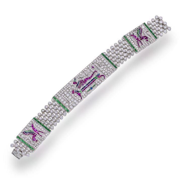 lot 29 - a diamond and gem-set bracelet jewelry pinterest gems