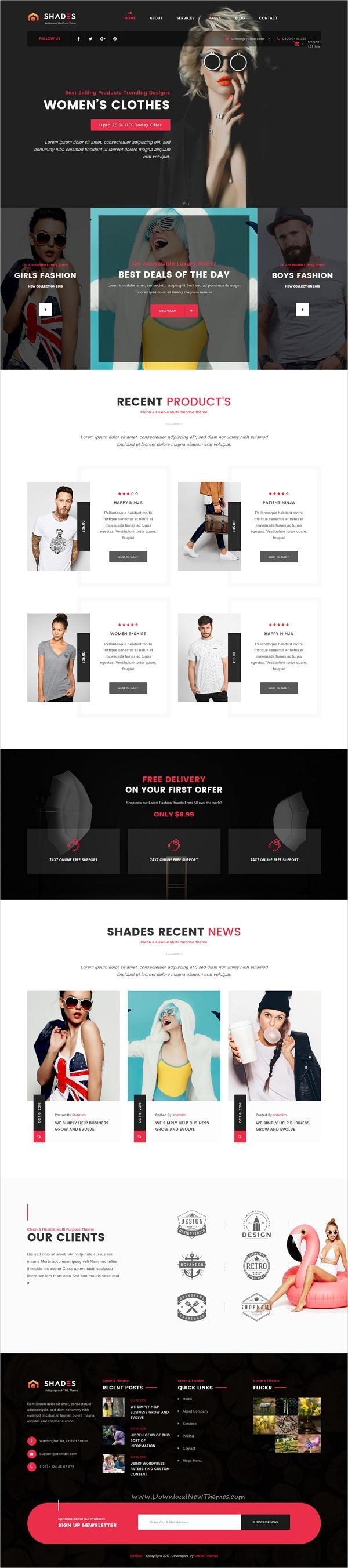 Portfolio Shades - business, creative agency, creative Multipurpose ...