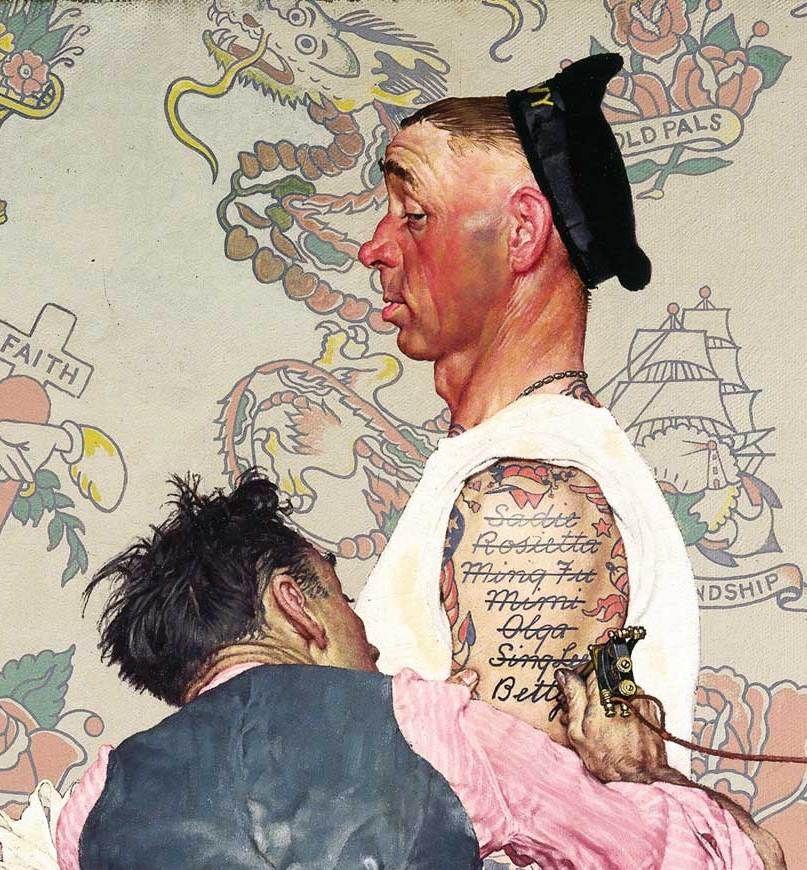 Norman Rockwell Tattoo Artist Jpg 807 870 Arte De Norman