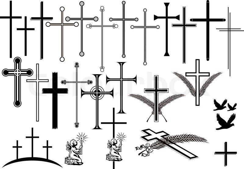 trauerkreuze und andere trauersymbole freigestellte vektor illlustrationen stock colourbox symbol kreuze mac vektorgrafik erstellen pixelgrafik