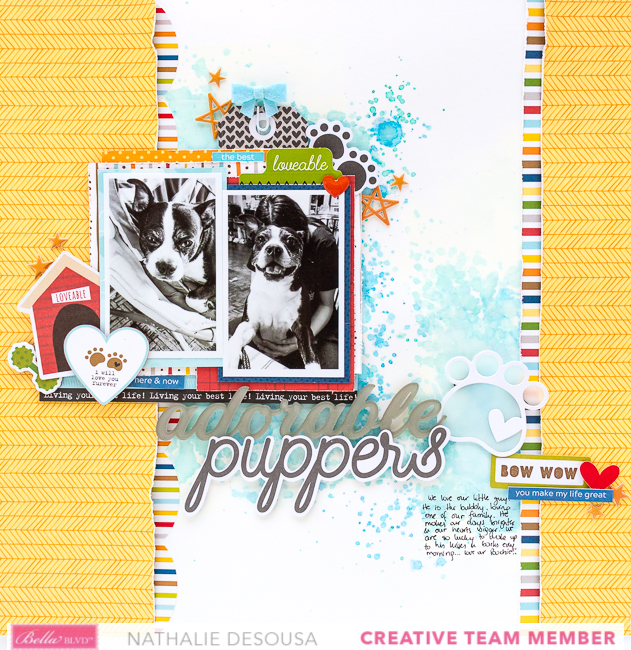 Bella Blvd Puppers Puppy Dog Scrapbook Page Layout By Nathalie Desousa In 2020 Pet Scrapbook Dog Scrapbook Scrapbook Page Layouts
