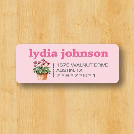 Return address sticker custom stickers etsy papergoods paper labels toodlelooworkshop