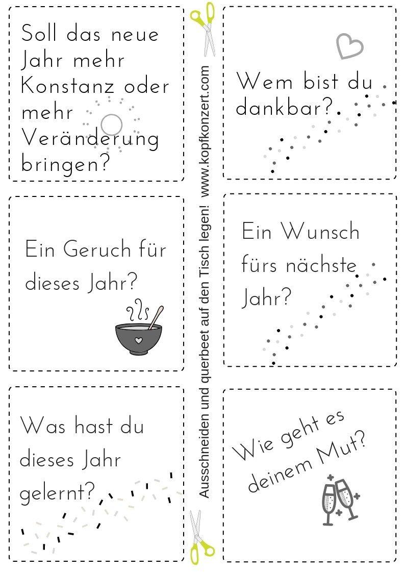 Silvester-Partyspiel, Tischdeko, Silvester & Freunde, Fragen für Silvester #silvesterwünsche