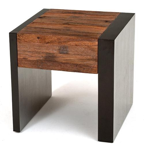 Best Urban Rustic Collection End Table Nightstand Design 400 x 300