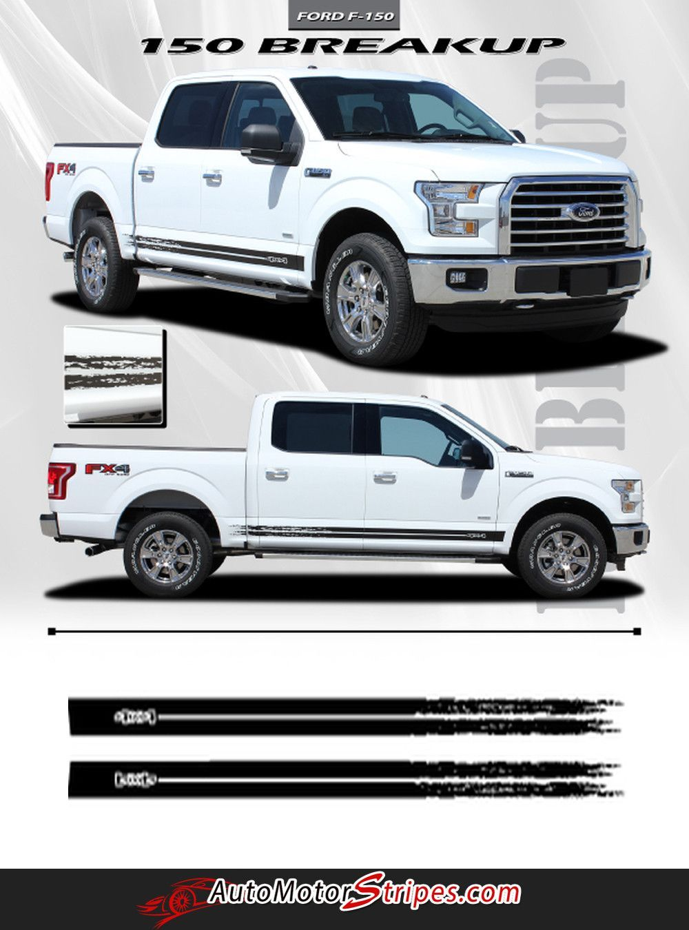 2015 2017 ford f 150 breakup rocker lower rocker stripes vinyl decal graphics