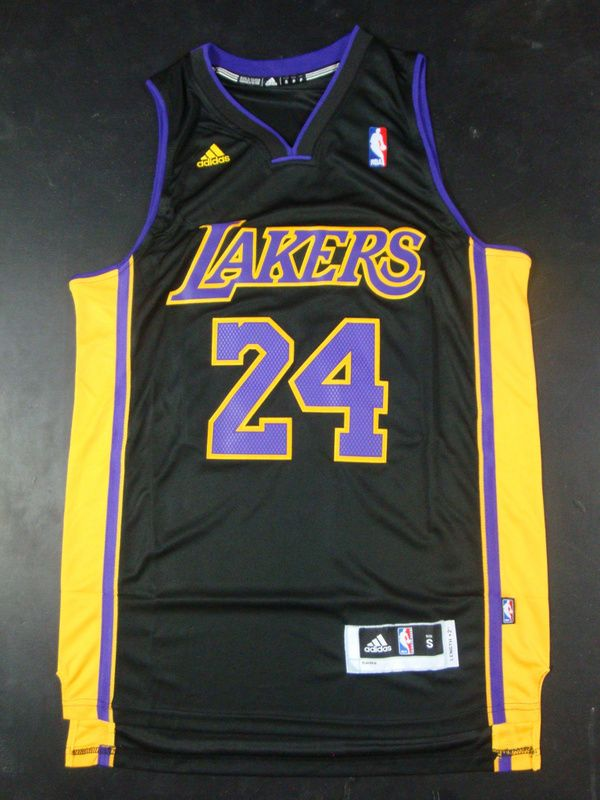 5f615e193c1f Los Angeles Lakers 24 Kobe Bryant Black Purple Jersey