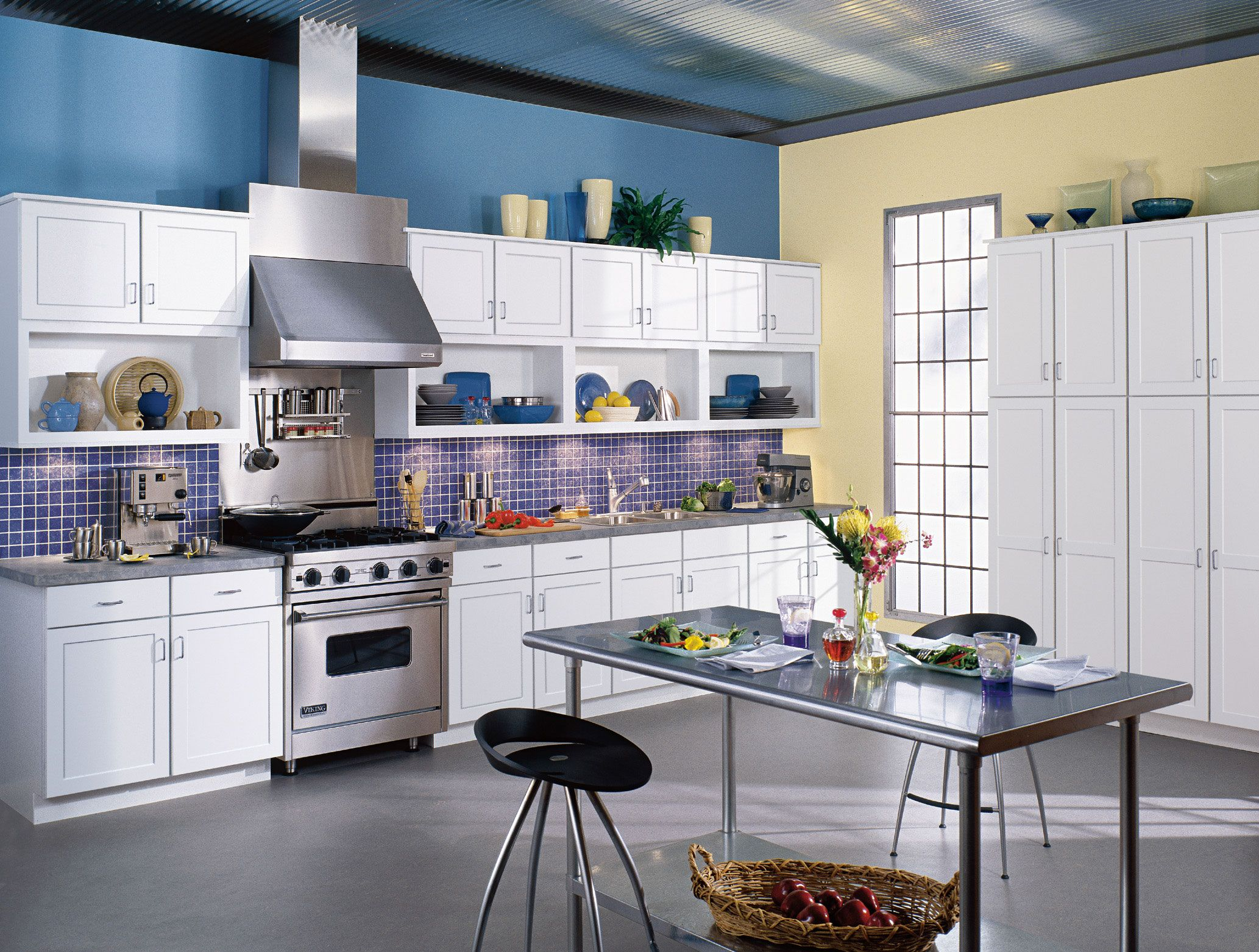 Bold, bright and futuristic, this kitchen features WOLF Designer ...