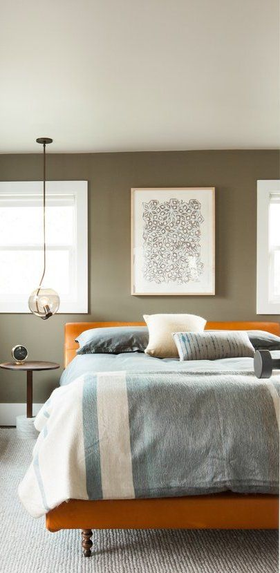 Organic Bedroom In White And Orange By Gemeria Design