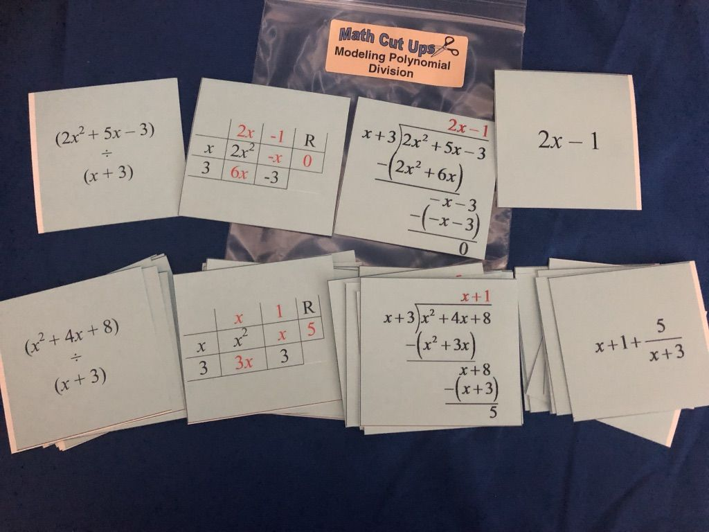 Modeling Polynomial Division Match A Polynomial Division