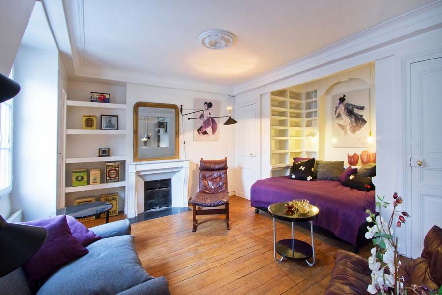 small studio apartment with bigger atmosphere : fancy small studio