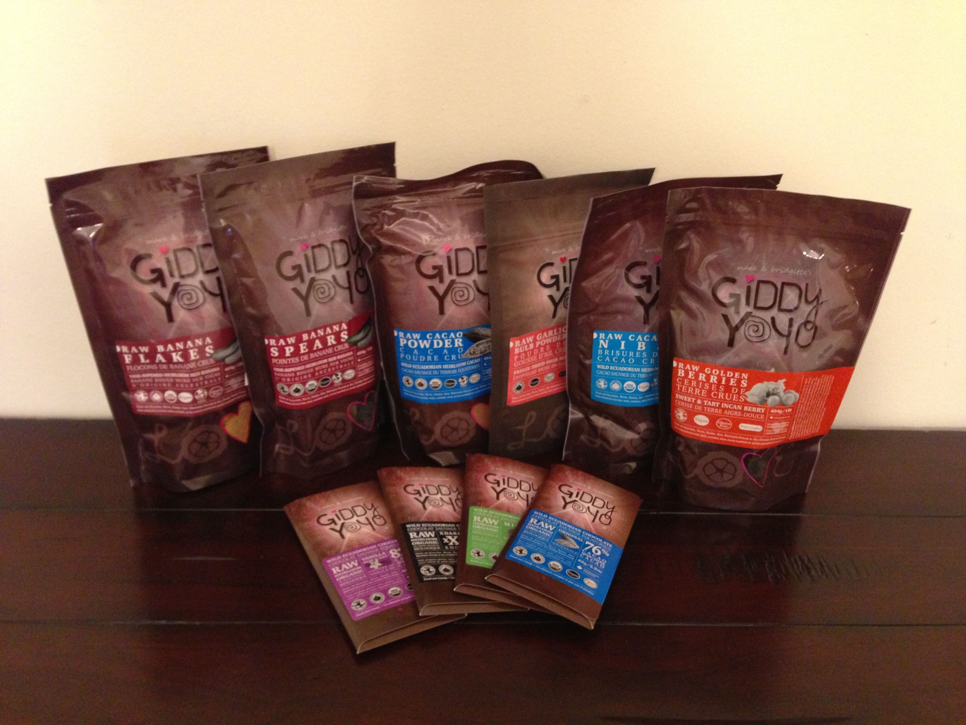 Giddy Yoyo Organic Chocolates and snacks