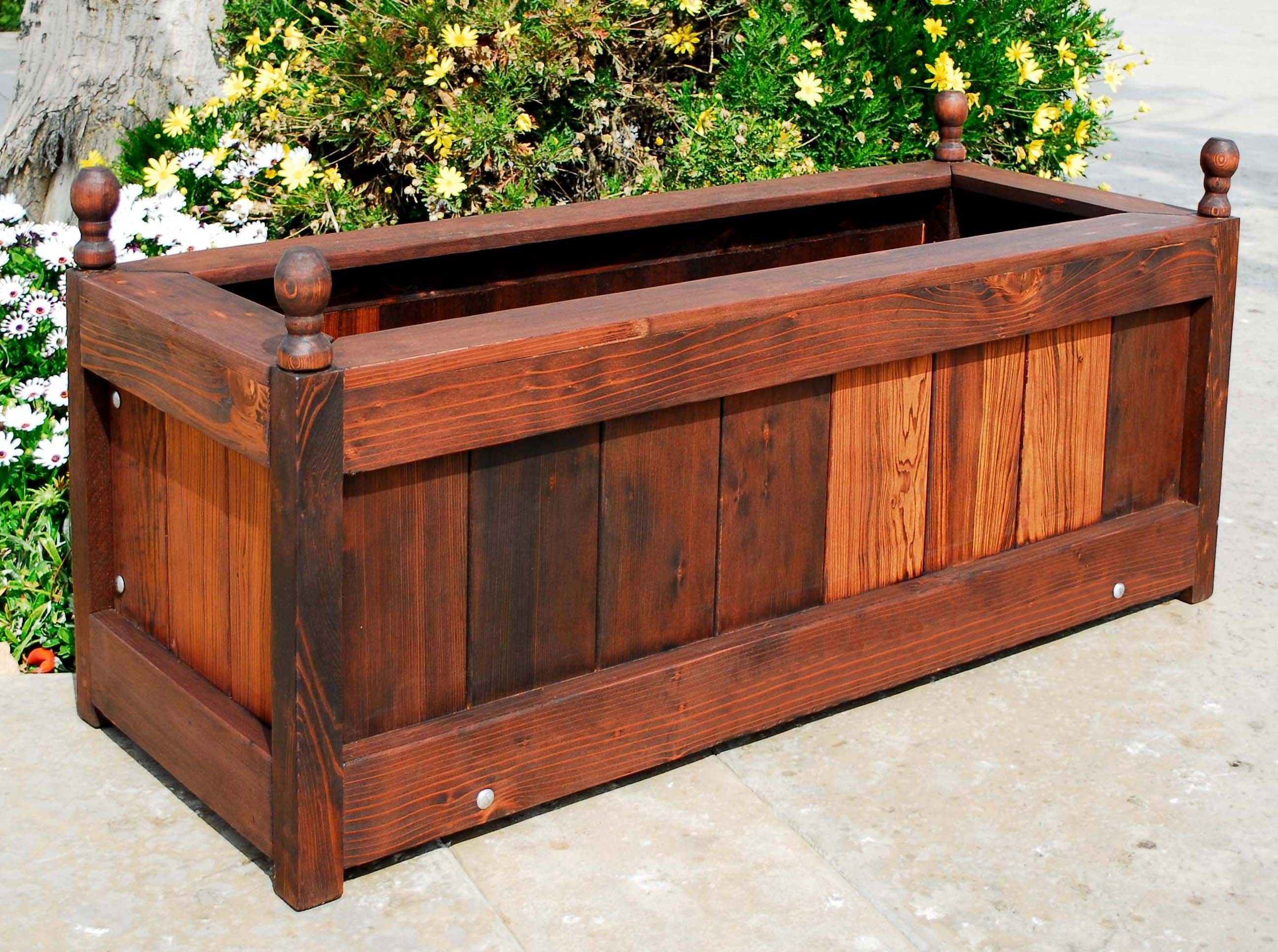 wooden simple deep box wide wood by privacy boxes for diy planting decorate planter rectangle just