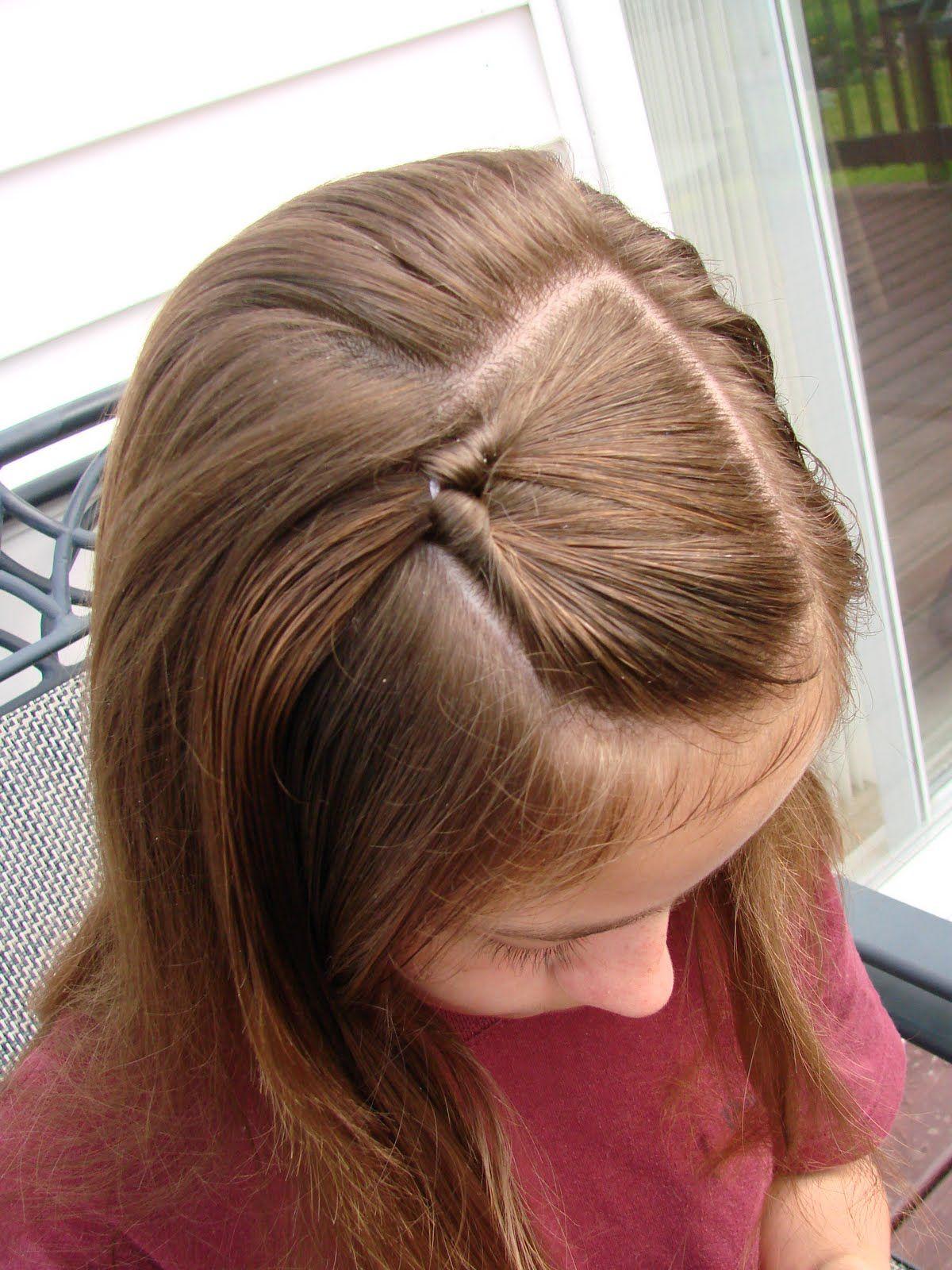 Simple Topsy Tail Pull Through For New Short Hair Jordyn Hair