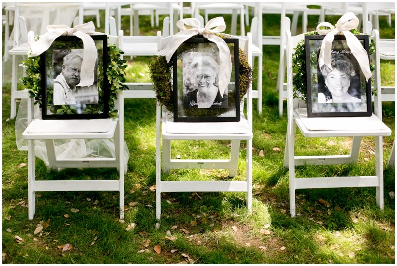 Highland Springs Resort Wedding Ceremony Memorial Chairs For Lost Loved Ones Brady Puryear Photography