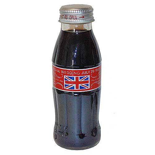 England Royal Wedding Bottle 7/29/81 Coca-Cola Bottle