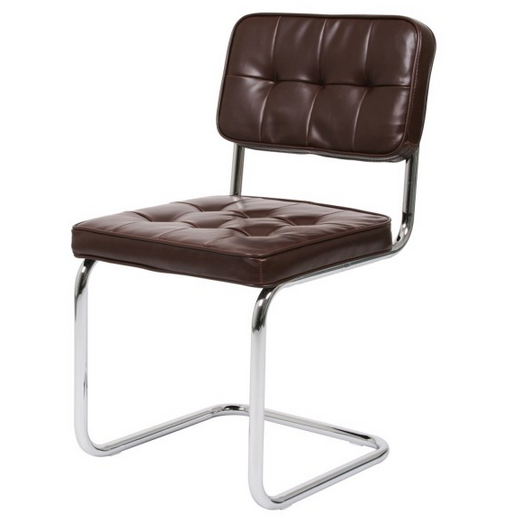De eetkamerstoel modjo vitage in bruin is een for Betaalbare design stoelen