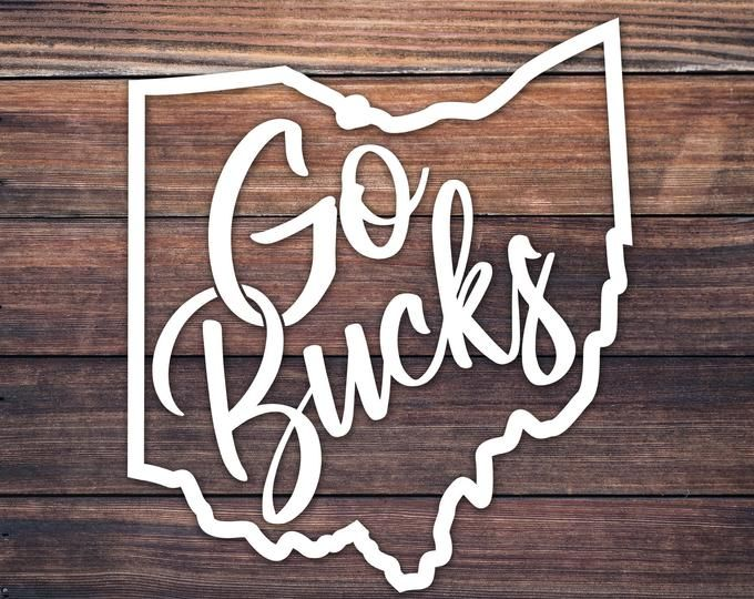 OSU Ohio State Decal / Buckeye Nation Vinyl Decal / Go Bucks Buckeye Decal For Car Wall Cup / Script Ohio / Ohio Home Roots Decal / OH Decal