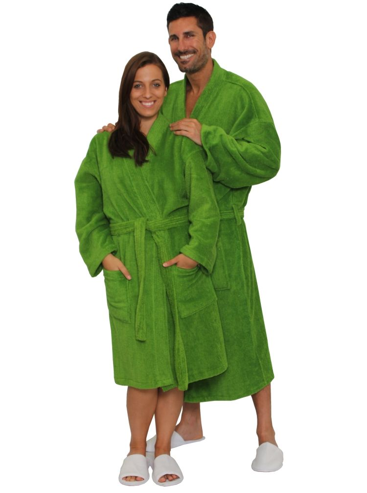 Green Terry Kimona robe for men and women by cottonage  ed4c41484