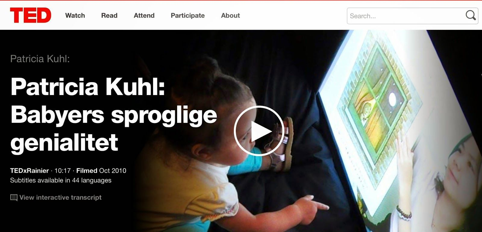 børns sprog: Se et spændende foredrag på nettet