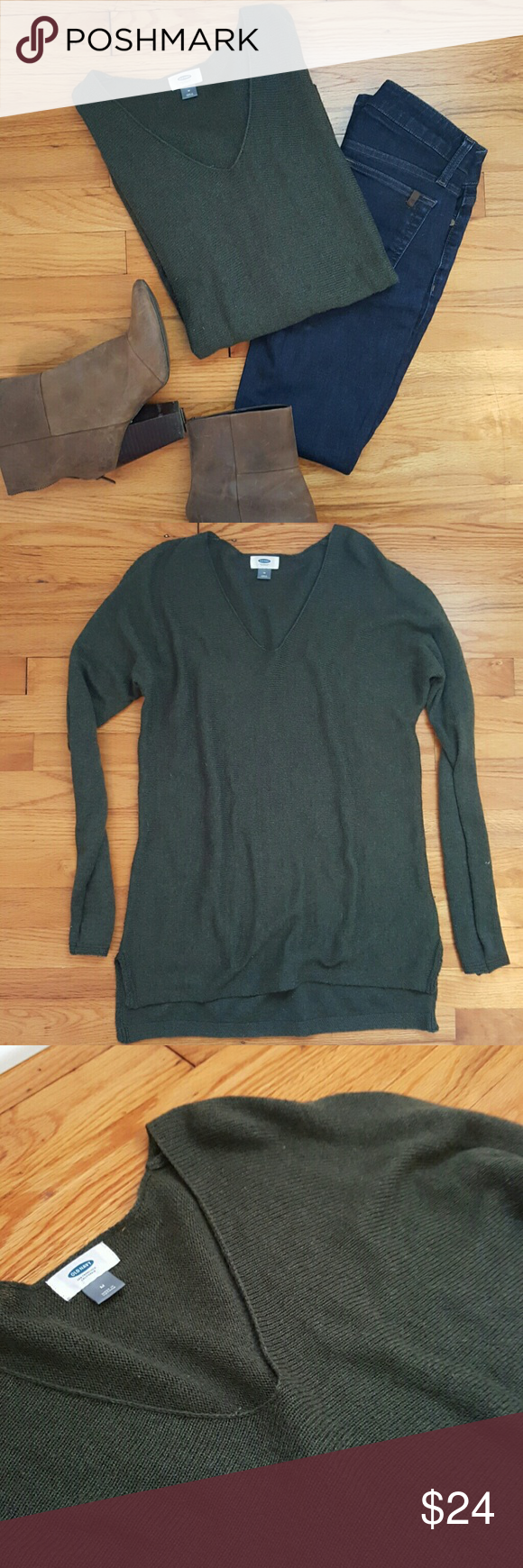 Old Navy Dark Green Tunic Sweater | Green tunic, Tunic sweater and ...