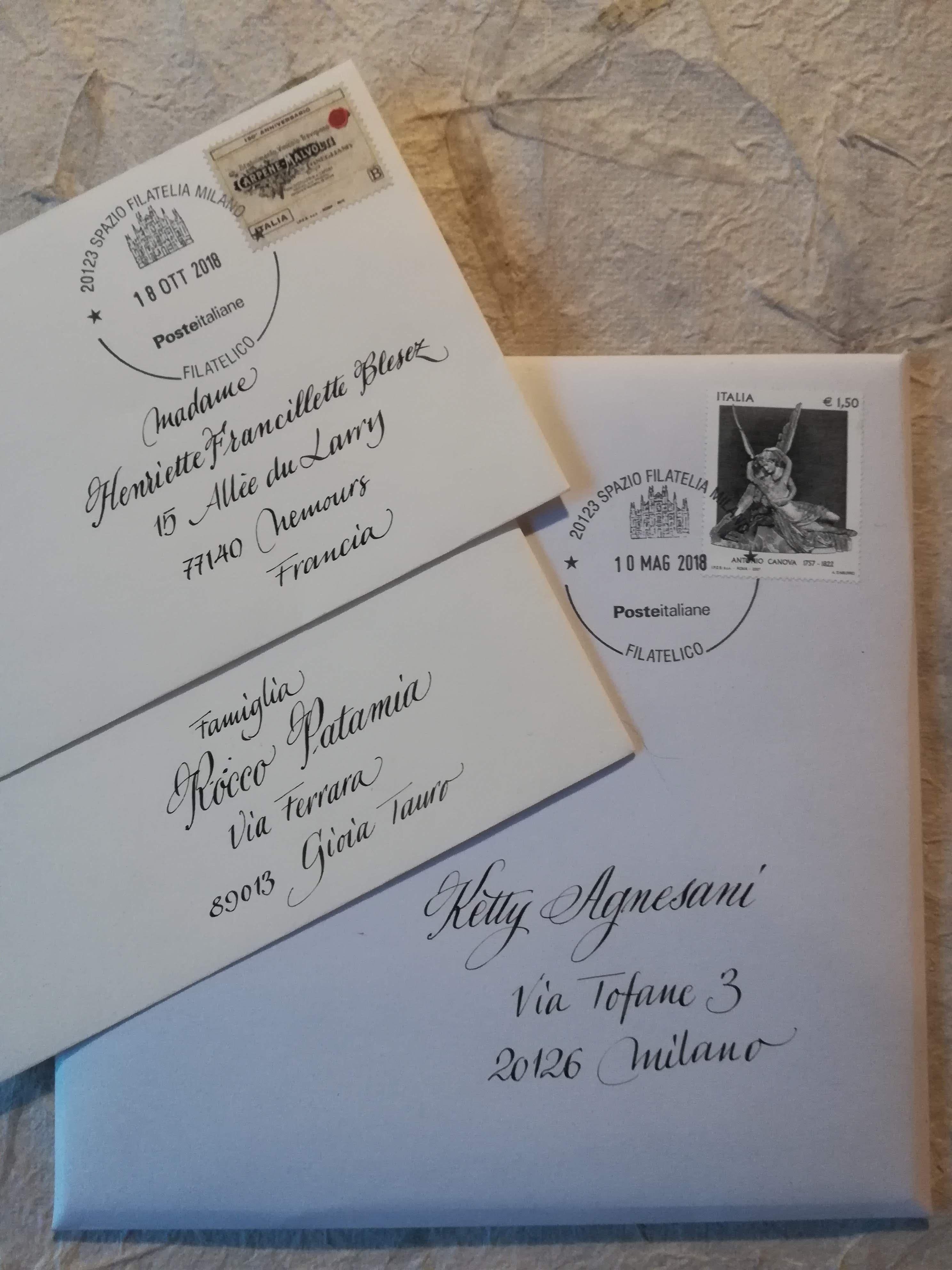Buste Partecipazioni Matrimonio.Buste Personalizzate In Calligrafia Elegante Per Le Partecipazioni