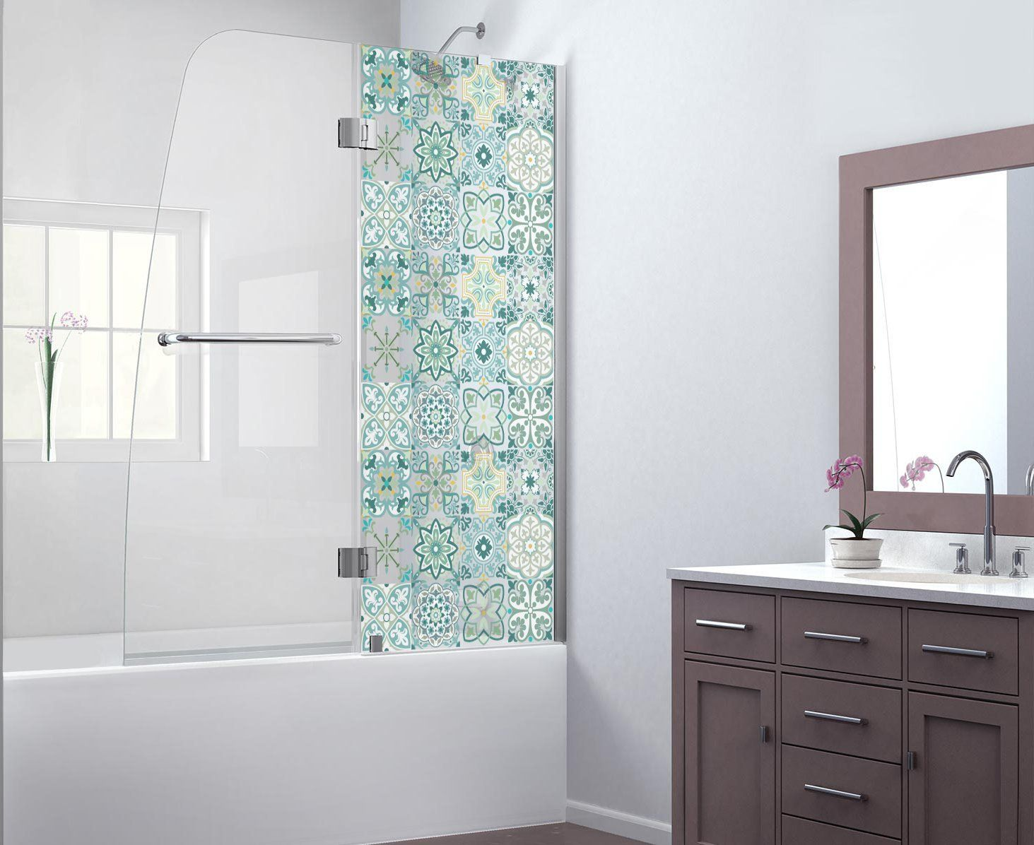 Amazon.com: AMAZONAS Transparent Decorative Tile Stickers Set 12 ...
