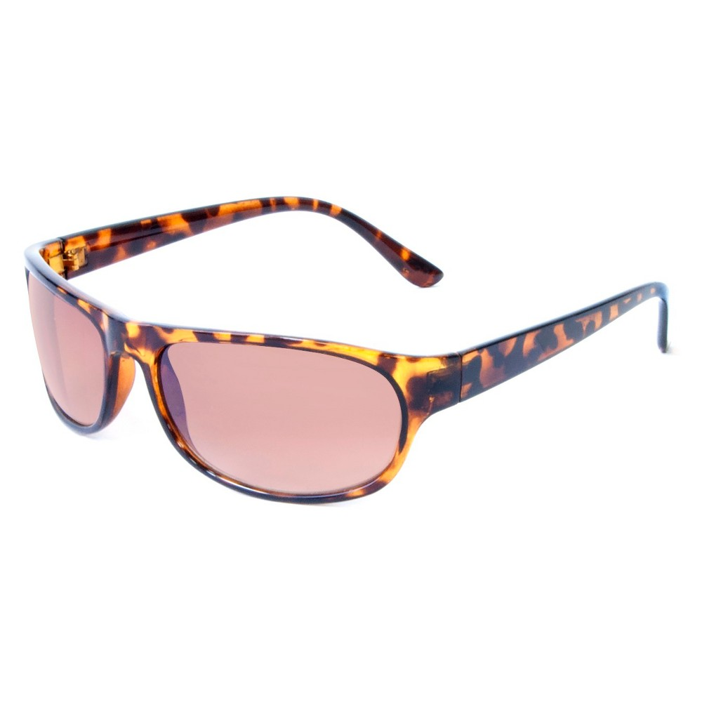Wrap Plastic Sunglasses - Tortoise, Adult Unisex, Brown