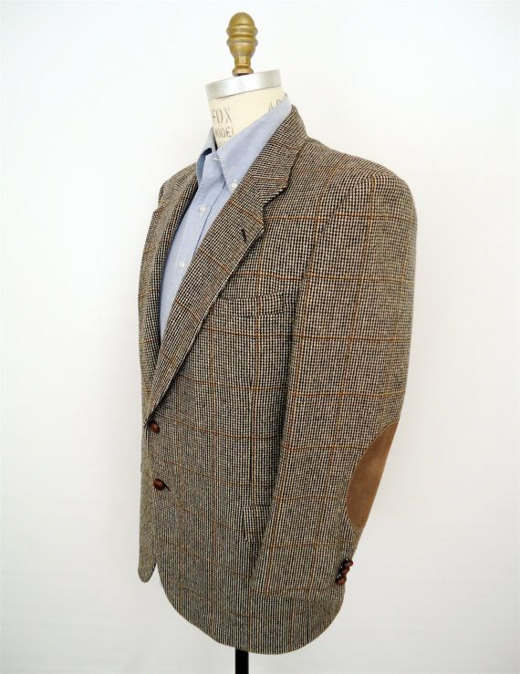 Tweed Jacket With Elbow Patches